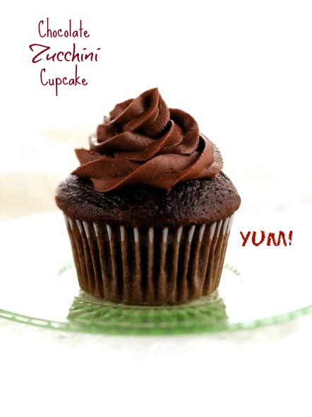 Chocolate Zucchini Cake as a cupcake.