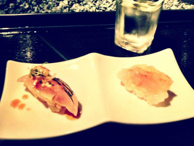 Sushi course at nnaka Los Angeles
