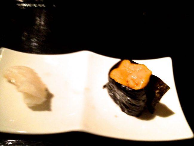 Sushi plate at nnaka Los Angeles