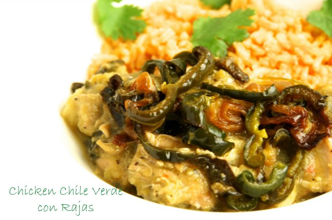 Chicken Chile Verde con Rajas