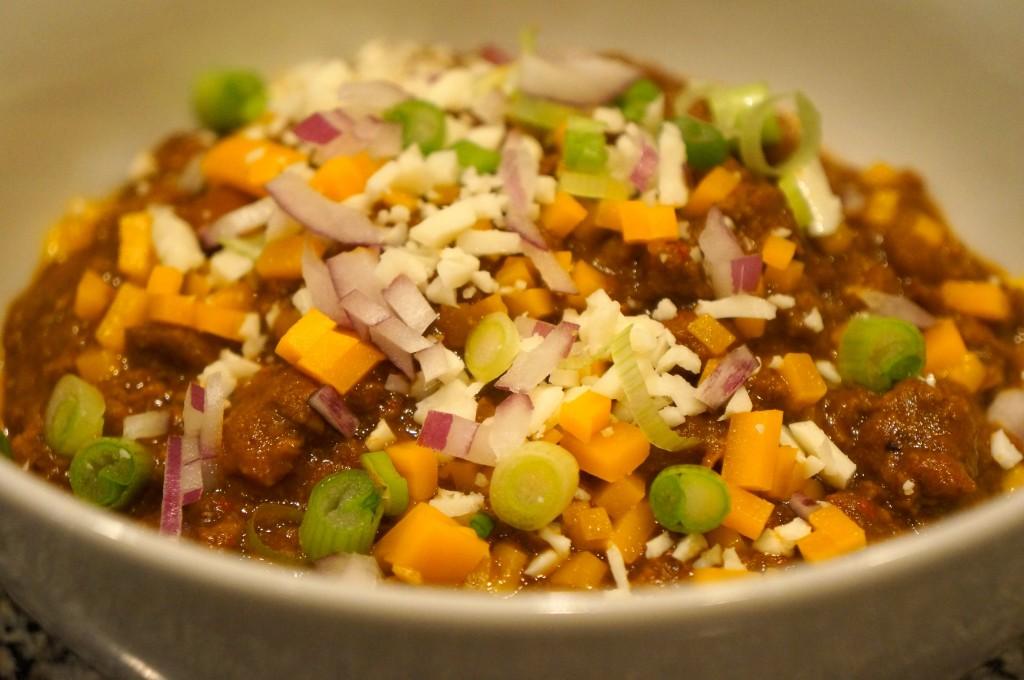 3-bean chili con carne