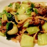 Chinese Style Noodles with Ground Lamb and Bok Choy header