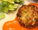 Crab Cakes with Piquillo Pepper Sauce