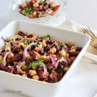 Final serving of Low-Fat Spicy Mexican Style 3-Bean Salad