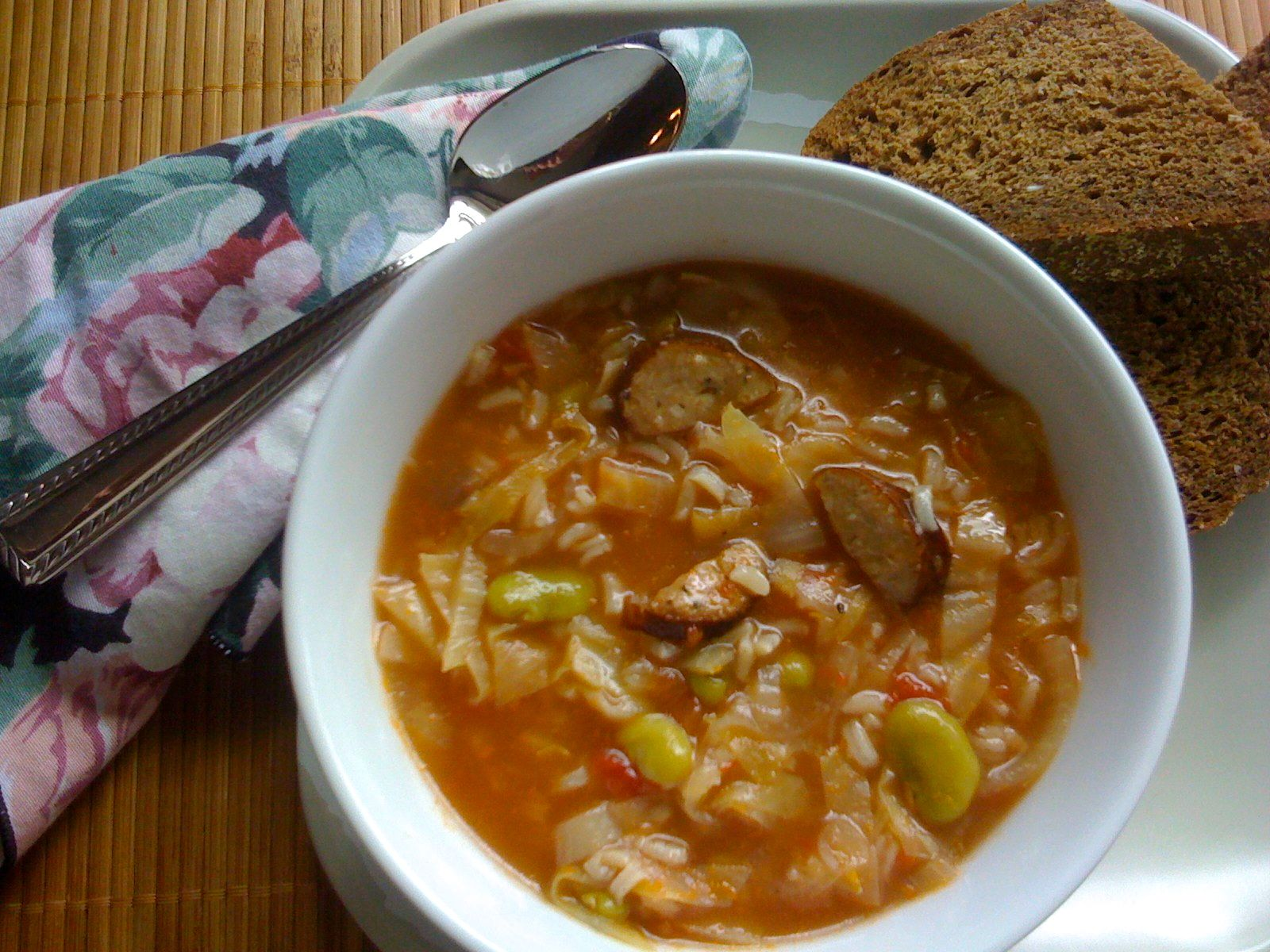 Smokey Kielbasa Cabbage Soup LindySez Recipes, Tips, Blog
