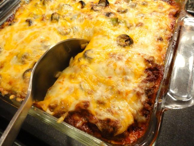"Mexican ""Lasagna"" Enchilada Casserole"