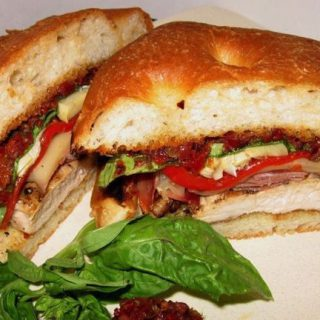 Grilled Chicken Sandwich with Sun-Dried tomato tapenade