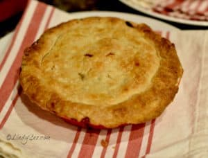 Finished and ready to eat Lindy's Homemade Turkey Pot Pie