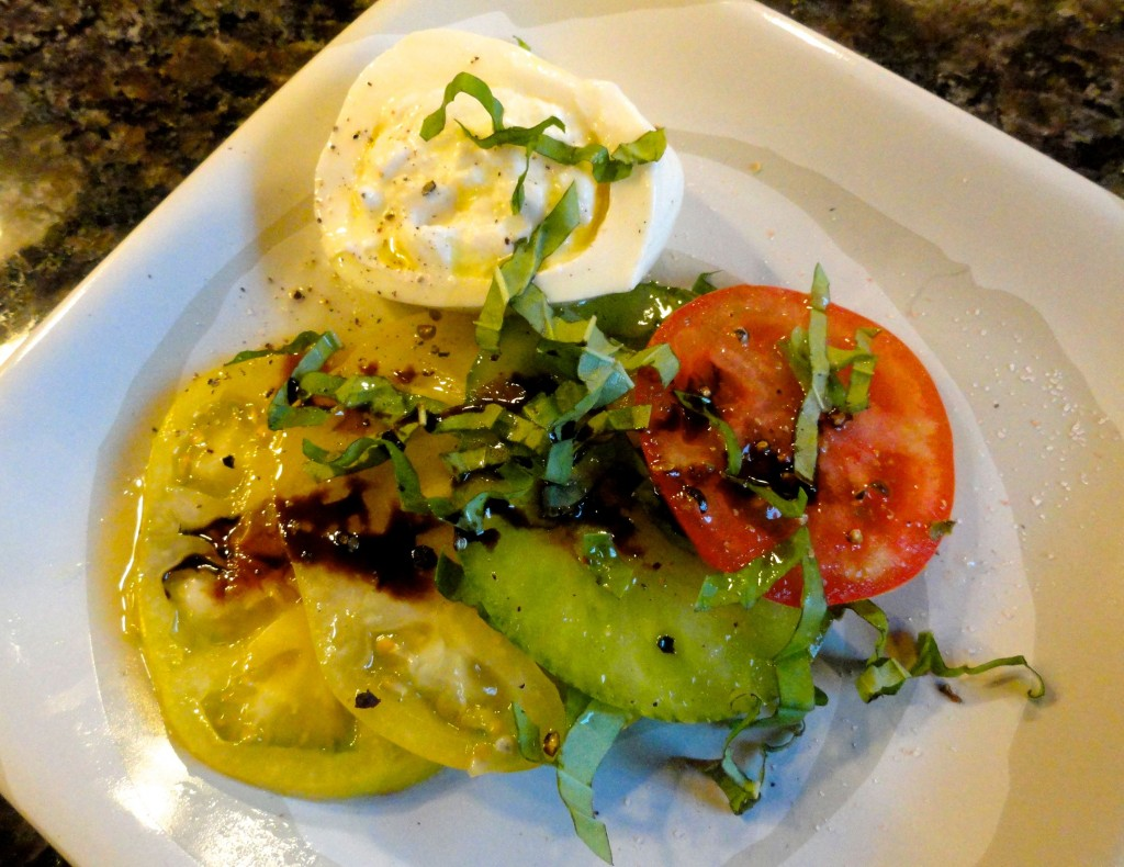 Burrata Caprese Salad | LindySez | Recipes, Tips, Blog
