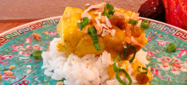 LindySez Poached Curry Halibut
