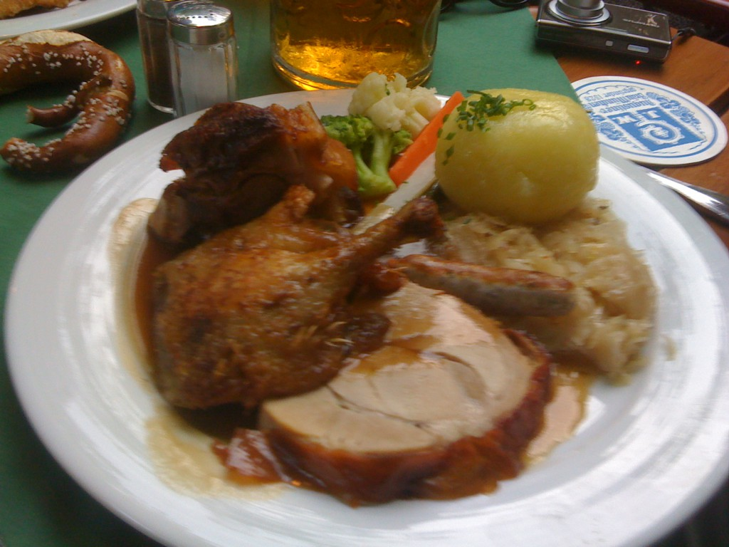 Augustiner Keller Munich everything we make plate