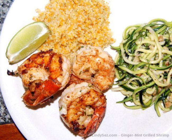Ginger-Mint Grilled Shrimp