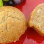 Healthy Banana Muffins with Wheat Germ