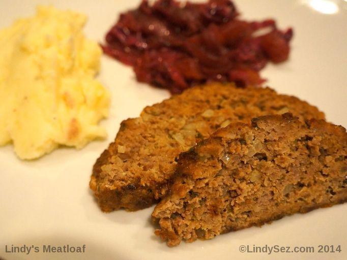Lindy's Meatloaf on a plate