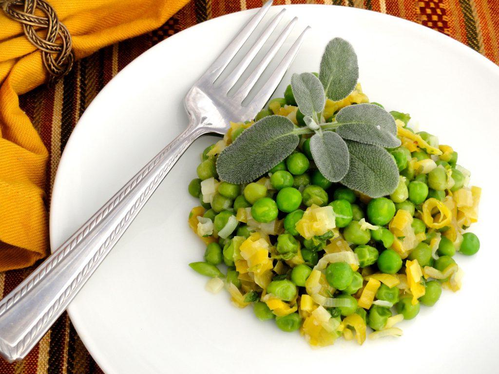 leeks and peas