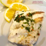 Grilled Halibut with Lemon and Parsley