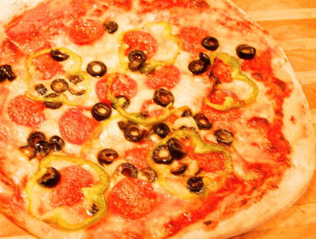 homemade-pepperoni-black-olive-pizza