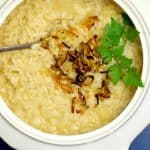 spring leek risotto