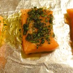 slow baked salmon fillets
