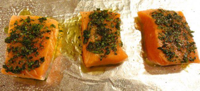 Slow Baked Salmon Fillets