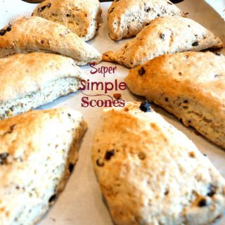 Super simple scones in a circle on a plate.