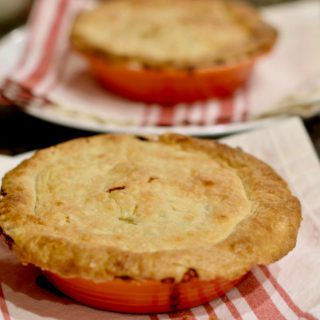 Plated image of Lindy's homemade turkey pot pie