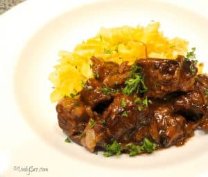 Beer Braised Beef with Onion