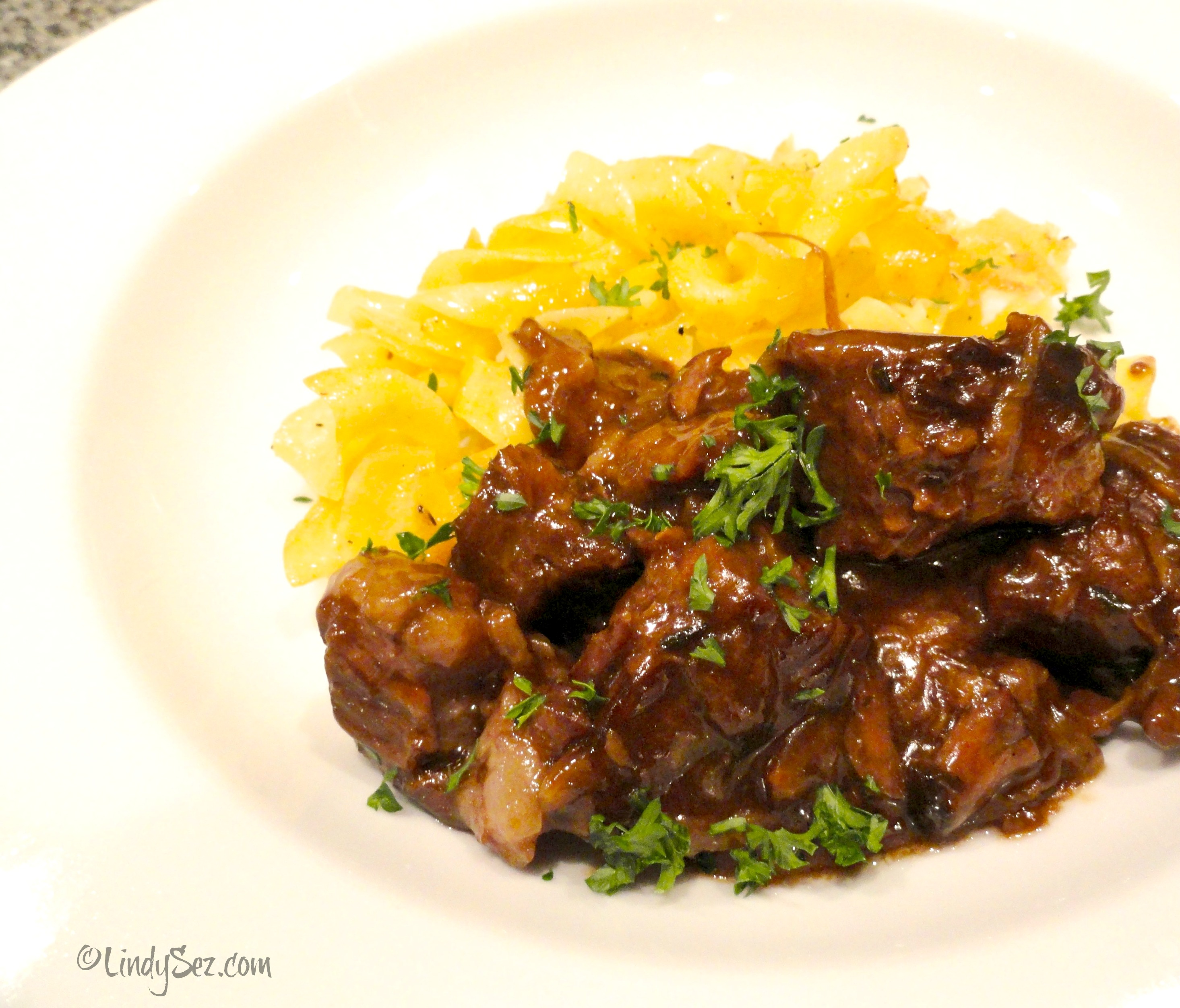 Beer Braised Beef With Onions - LindySez Recipe