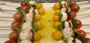caprese salad on a stick
