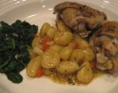 country chicken with gnocchi