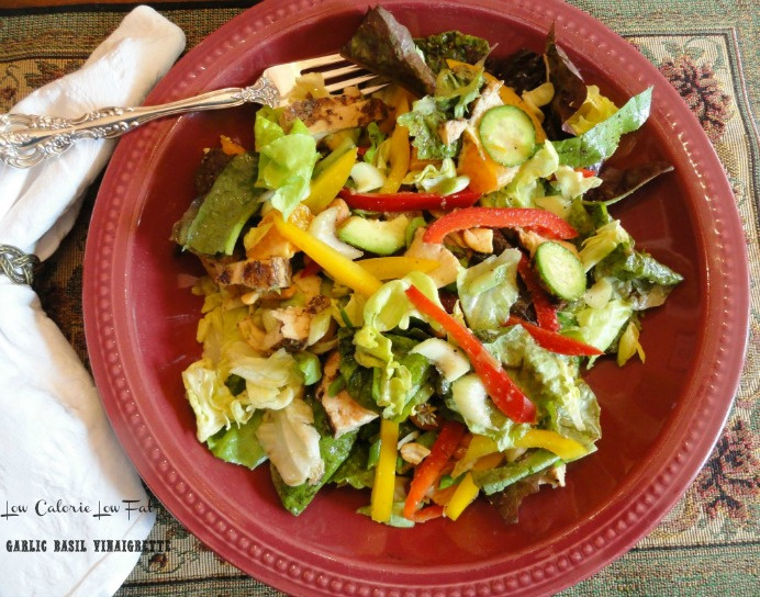 low calorie low fat garlic basil vinaigrette