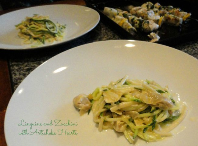 Linguine and Zucchini zoodles