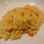 Carrot-Ginger Risotto a very ugly picture