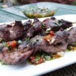 Lamb skewers with Italian Style Chimichurri