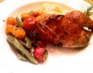rosemary smoked Cornish game hens
