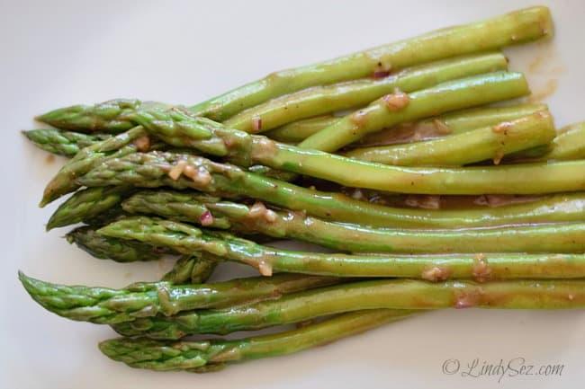 Asparagus Salad with Balsamic Dressing fresh asparagus lightly dressed with balsamic dressing