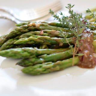 header photo Asparagus Salad with Balsamic Dressing