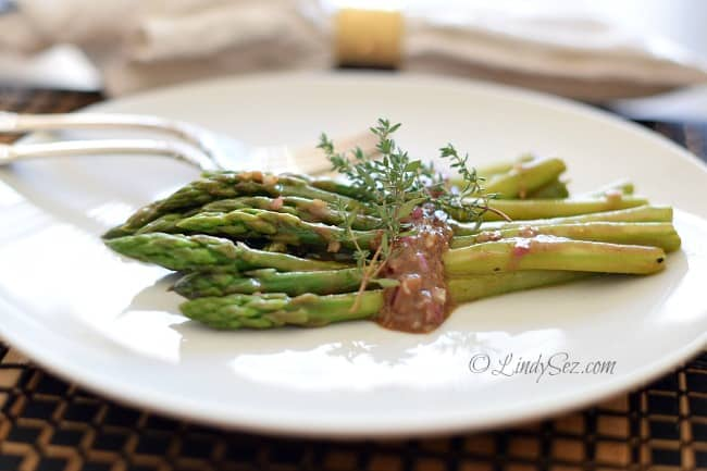 Asparagus Salad with Balsamic Dressing close up