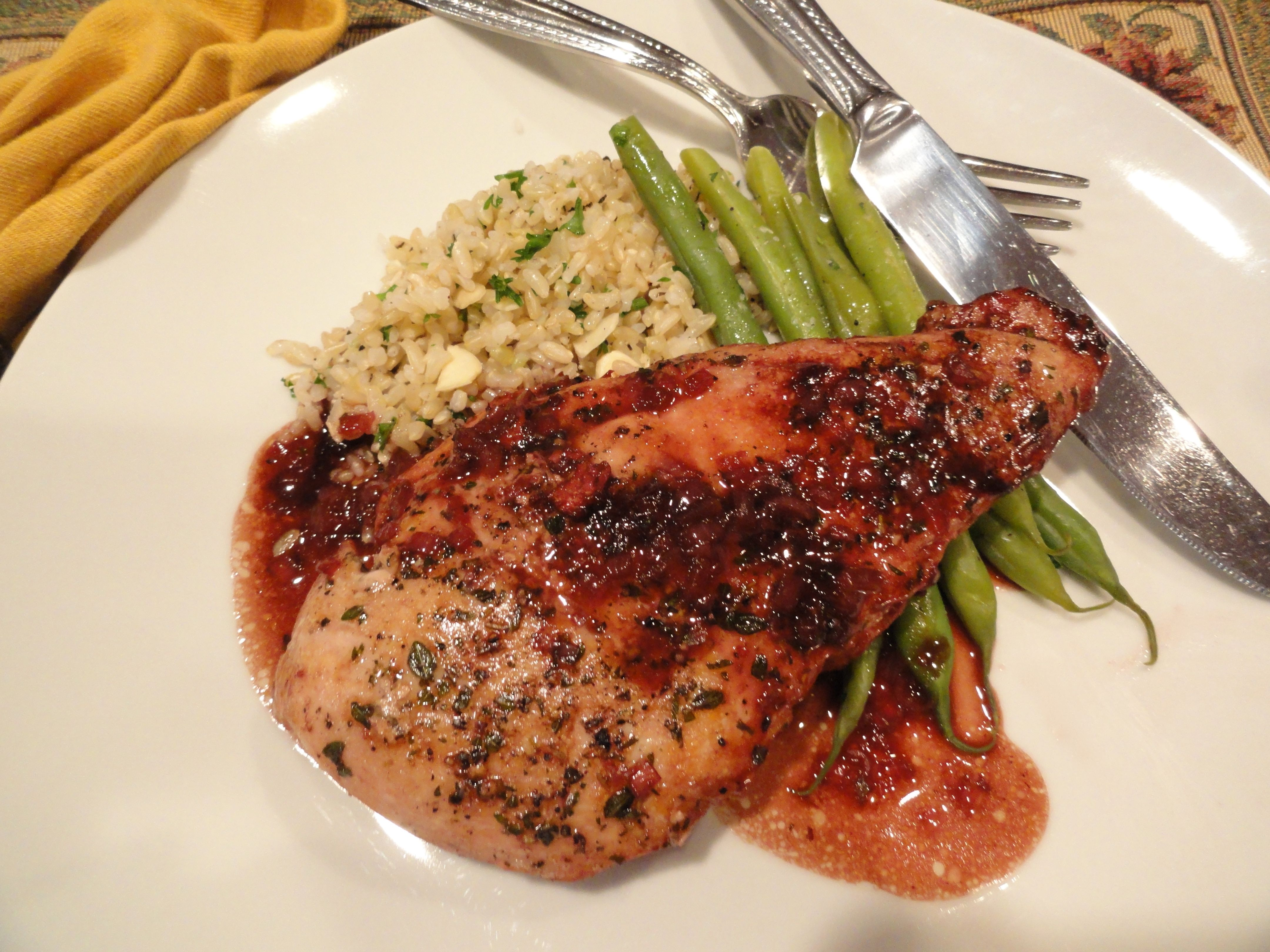 Blackberry Balsamic Chicken Breasts - LindySez | Recipes, Tips, Blog