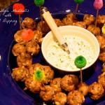 Greek Style Meatballs with Yogurt Dipping Sauce