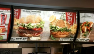 McDonalds Menu in Freiburg Germany