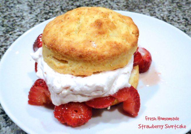 Fresh Homemade Strawberry Shortcake