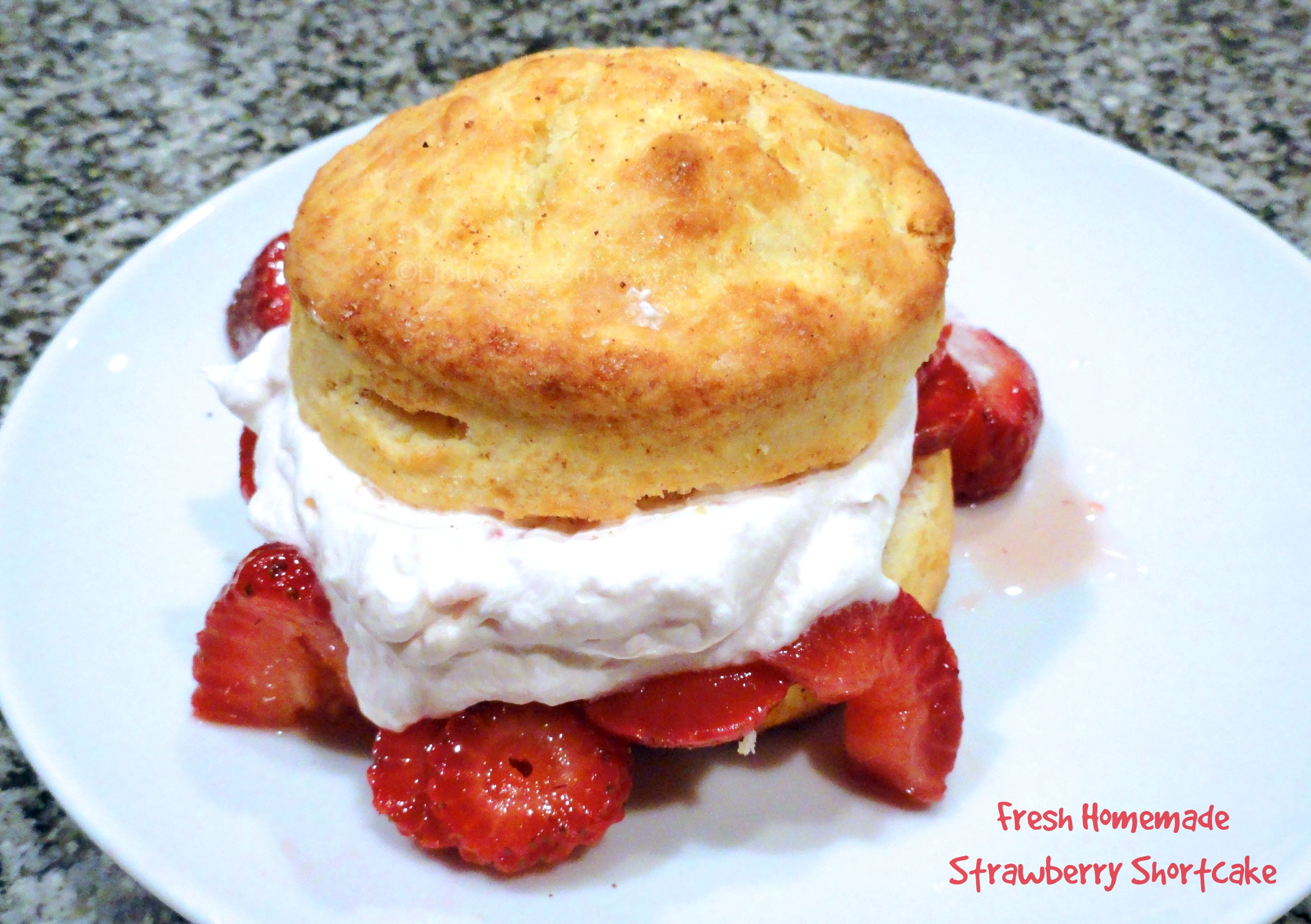 Fresh Homemade Strawberry Shortcake