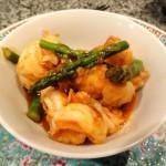 Chili Shrimp with Asparagus
