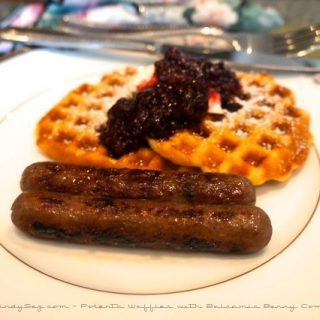 Polenta Waffles with Balsamic Berry Compote