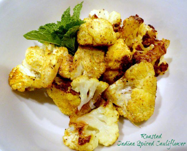 Roasted Indian Spiced Cauliflower