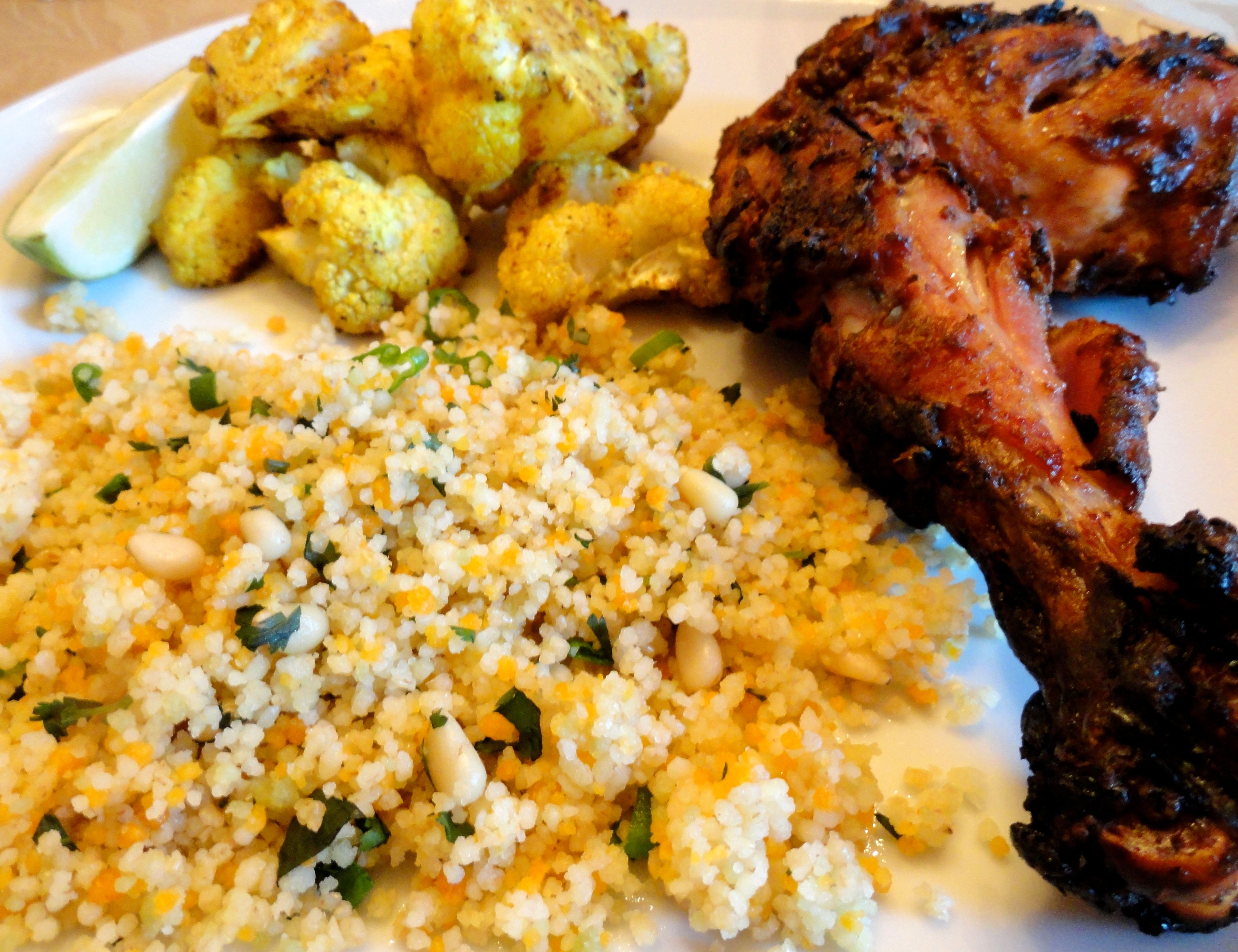 Orange Scented Couscous with Tandoori Chicken and Roasted Indian ...