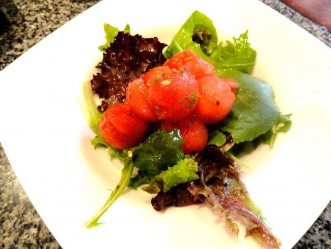 minted watermelon salad