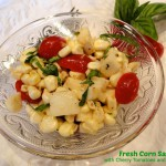 Fresh Corn Salad with Cherry Tomatoes and Mozzarella