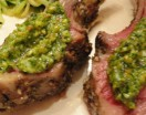 grilled lamb with artichoke spinach pesto